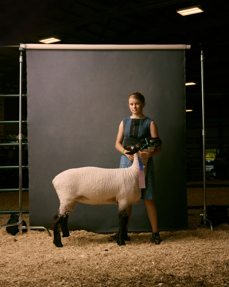 "Erika and Paint, West Otter Tail County Fair, Minnesota, 2016. From the project, ""The Unchosen Ones."""