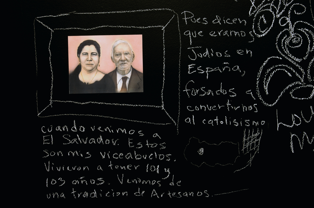 Documented: The Community Blackboard, (Detail: Pues dicen que Žramos jud'os en Espa–a...), Art Museum of the Americas, 2006