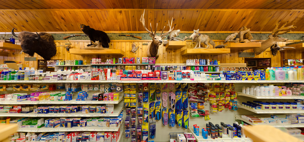 Taxidermy adorns the pharmacy wall at Wall Drug; Wall, South Dakota 2013 ©Rich Frishman ALL RIGHTS RESERVED