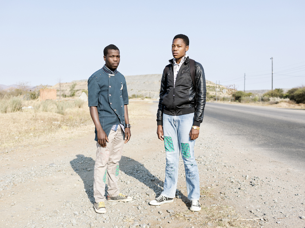 56 – Jankie Mathebula, 18 and Solly Machoga, 19, Hans Village, Mapela, Limpopo, Northern Limb Jankie and Solly welcome mining to the area as it has provided employment for their parents. Hans Village has not yet been affected by mining operations, though prospecting has commenced nearby.