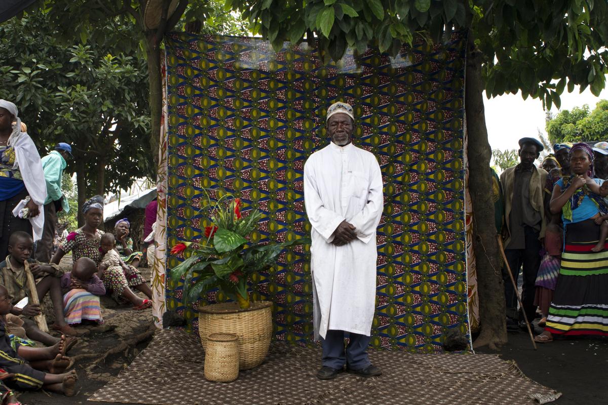 Bulengo IDP Camp- Goma, DR Congo Ramazani Ruhungai s a 74 year old farner from Bwito.