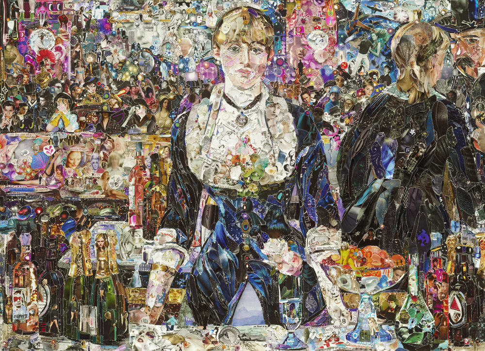 Vik Muniz (Brazilian, b. 1961) A Bar at the Folies-Bergère after Edouard Manet, from the series Pictures of Magazines 2, 2012 Digital C print  71 x 98.1 x 2 inches © Vik Muniz/  Ben Brown Fine Arts, London