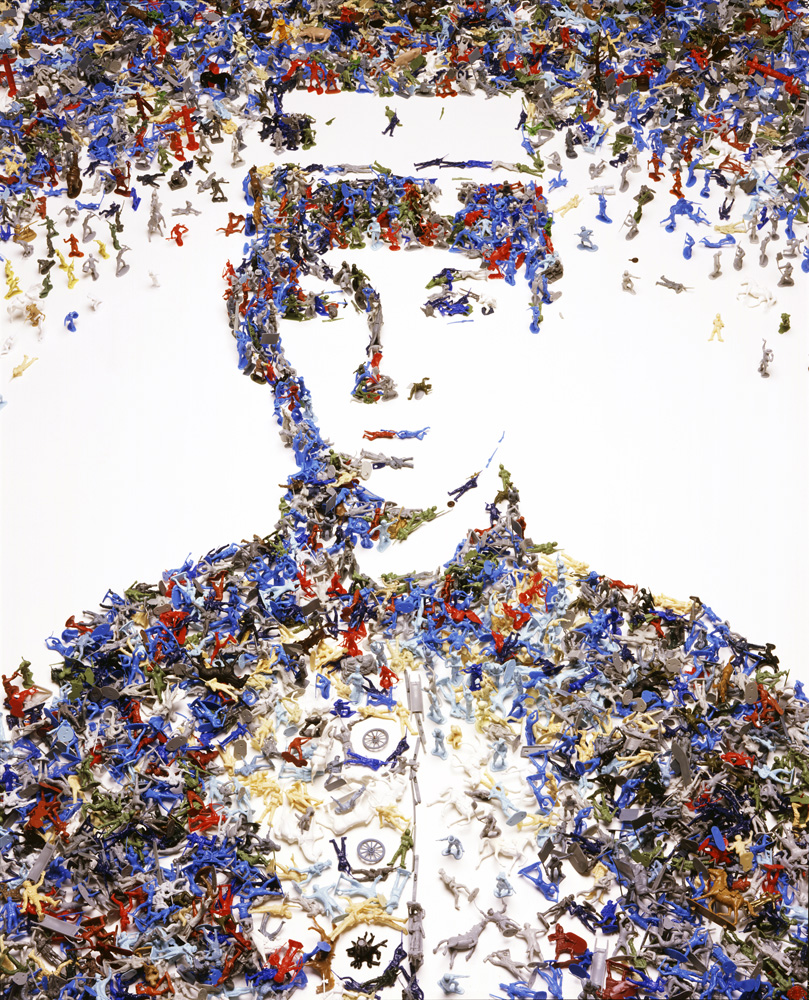 Vik Muniz (Brazilian, b. 1961) Toy Soldier, from the series Monads, 2003 Digital chromogenic print  92 x 72 inches © Vik Muniz / Galerie Xippas, Paris