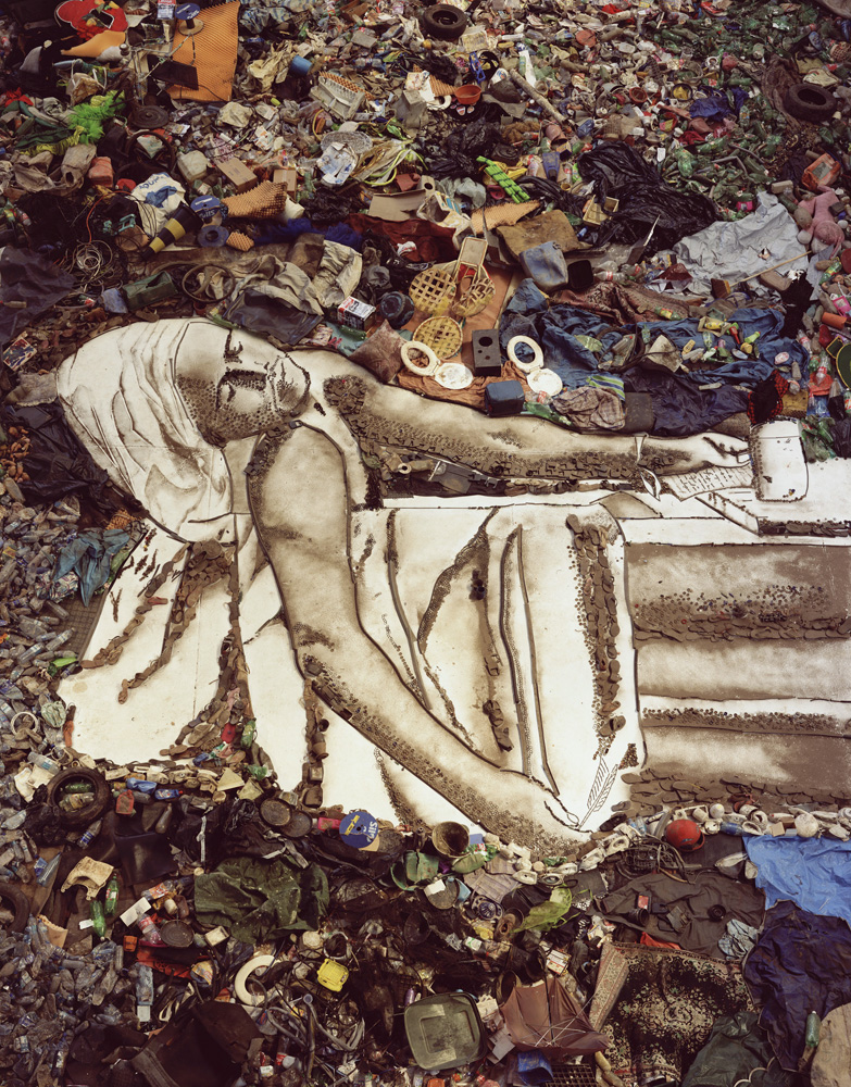 Vik Muniz (Brazilian, b. 1961) Marat (Sebastião,) from the series Pictures of Garbage, 2008-11 Digital chromogenic print 30 x 24 inches © Vik Muniz / Sikkema Jenkins & Co.