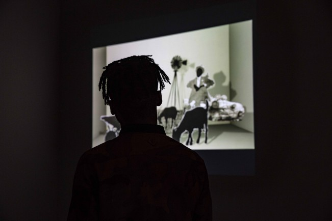 """Installation of """"Tell Tale"""" at the Market Theatre in Johannesburg"""