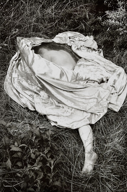 2_Callis-Woman-on-Grass-with-Satin-Quilt_JAC_1975