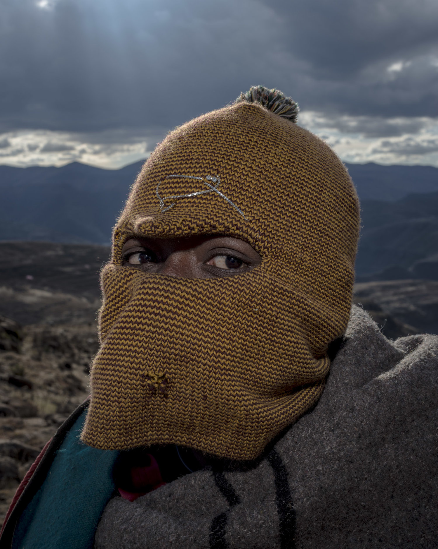 "David Southwood, ""Balaclava 4,"" from the series, Kaste Dam, 2015."