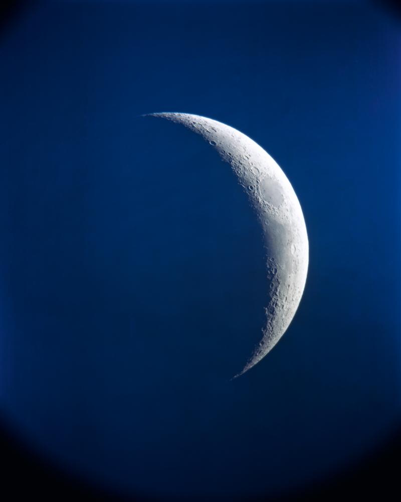 10-88 Moon, telescope, Radius Print