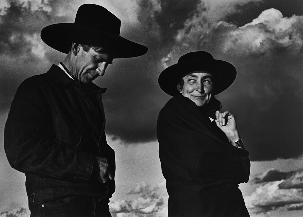 Georgia O'Keeffe and Orville Cox, Canyon de Chelly National Monument, Arizona, 1937, printed 1980  Photograph by Ansel Adams Chrysler Museum of Art, gift of Selina and Tom Stokes, 2017.33 © The Ansel Adams Publishing Rights Trust