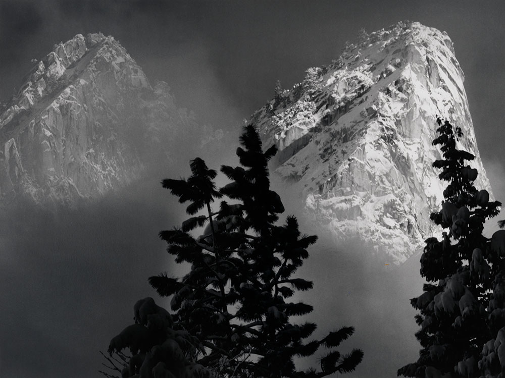Eagle Peak and Middle Brother, Winter, Yosemite National Park, California, ca. 1968, printed 1980 Photograph by Ansel Adams Chrysler Museum of Art, gift of Dr. and Mrs. T. Lane Stokes, 83.633.3 © The Ansel Adams Publishing Rights Trust
