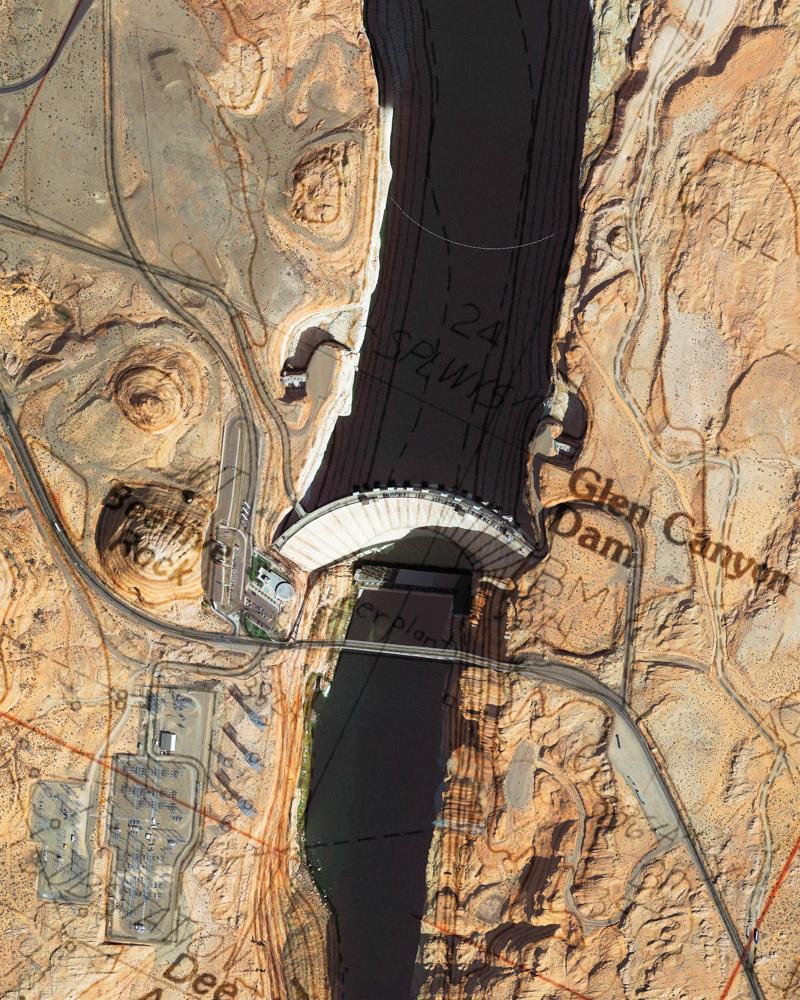 Carsten Meier_Glen Canyon Dam Topo-Satl_2017