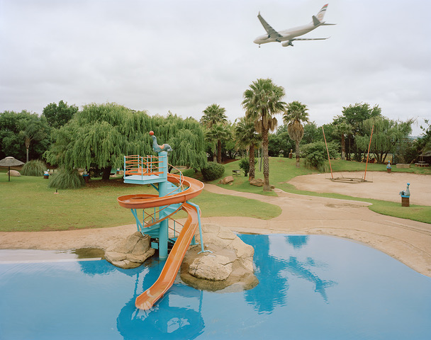 Facing north towards O.R. Thambo International Airport this water park in Boksburg was reserved for the use of the 'white' population during the apartheid era.