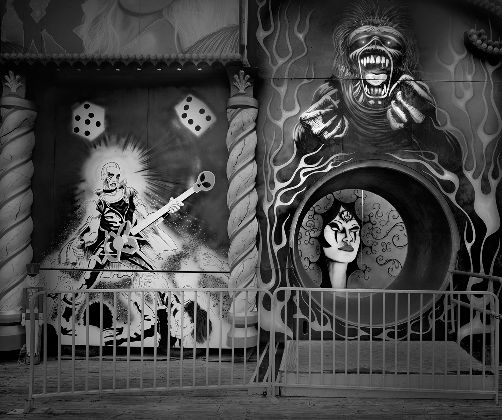 1-Fun House Entrance-2011-44_x54_ Split Toned Gelatin Silver Print