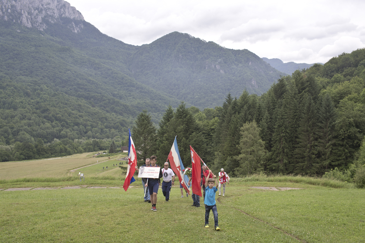 Yugoslavs gather to commemorate the WWII Battle of the Sutjeska, Tjentiste, Bosnia and Herzegovina, June 17, 2017. Victory against Axis powers at the Battle of the Sutjeska in 1943 proved a critical moment for the WWII Yugoslav Partisan resistance, turning the tide of war against the Nazi occupiers. Yugoslavia was the only European country occupied by the Axis powers during WWII that managed to liberate itself without direct assistance by the Allies.