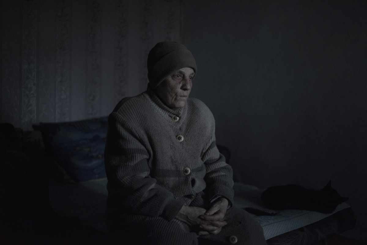 Resident of the village of Kominternovo of the Donetsk region Zinaida Pavlova, 76 years old.