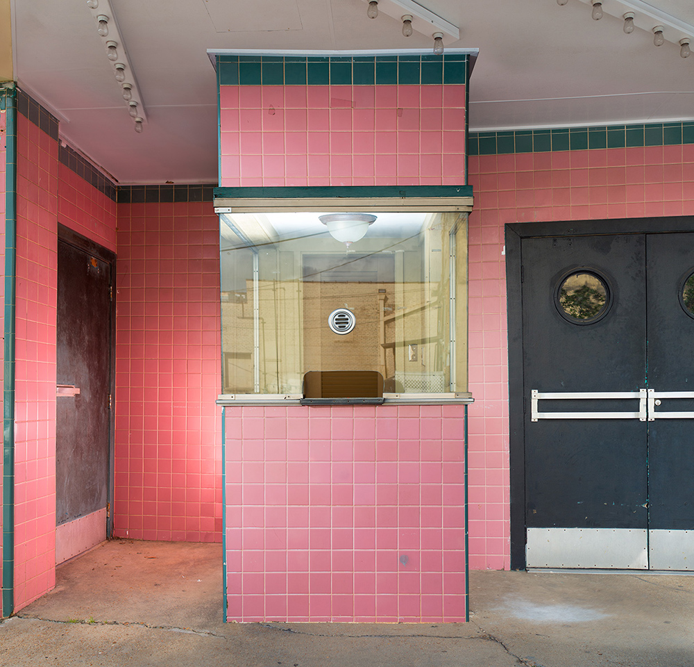 "The Ellis Theatre in Philadelphia, Mississippi had a ""Colored Entrance"" tucked to the left of the ticket booth. It led directly up stairway to the segregated section of the balcony. ©Rich Frishman ALL RIGHTS RESERVED"