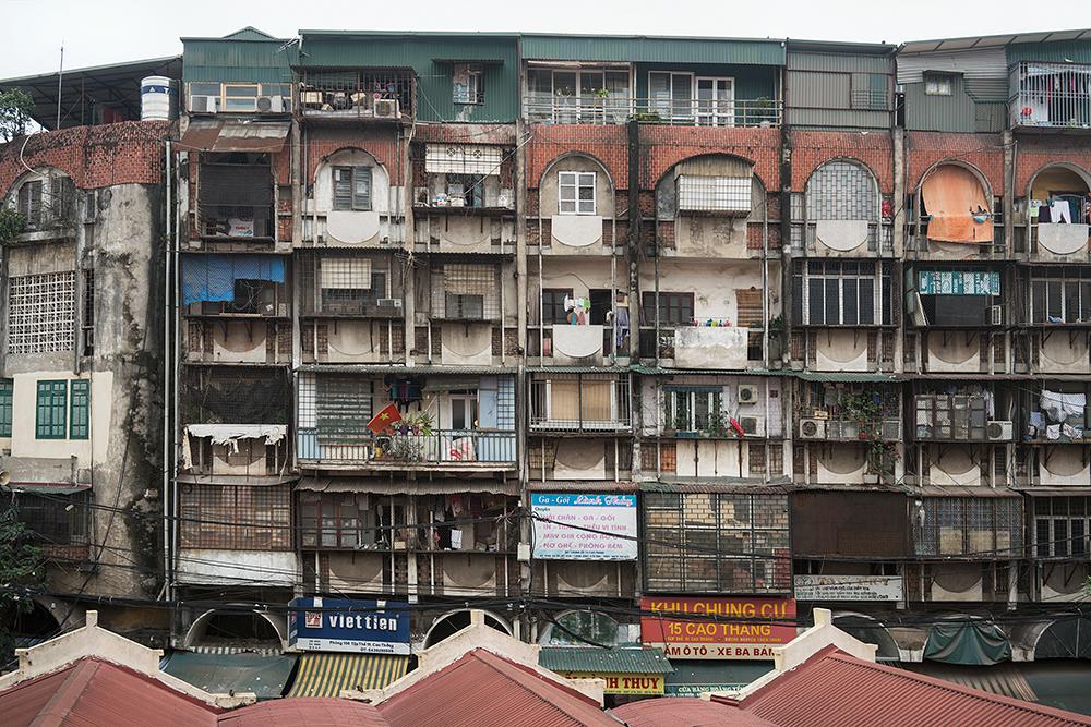 Apartments near Dong Xuan Market, Hanoi, Vietnam