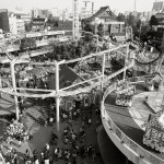 Hanayashiki Amusement Park in Asakusa District, Tokyo, Japan