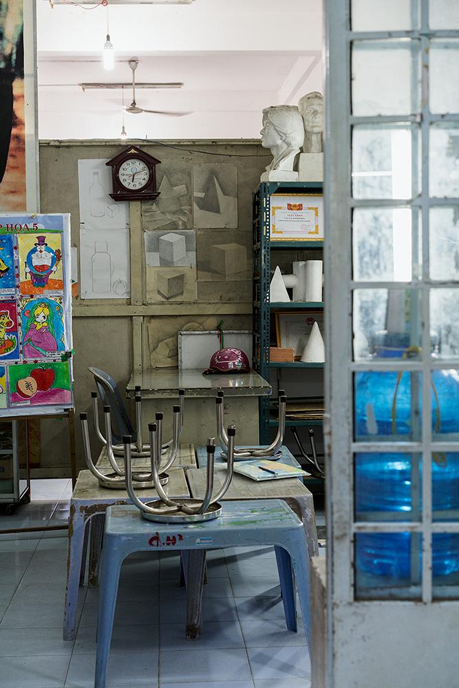 Art room in after school program, Can Tho, Vietnam