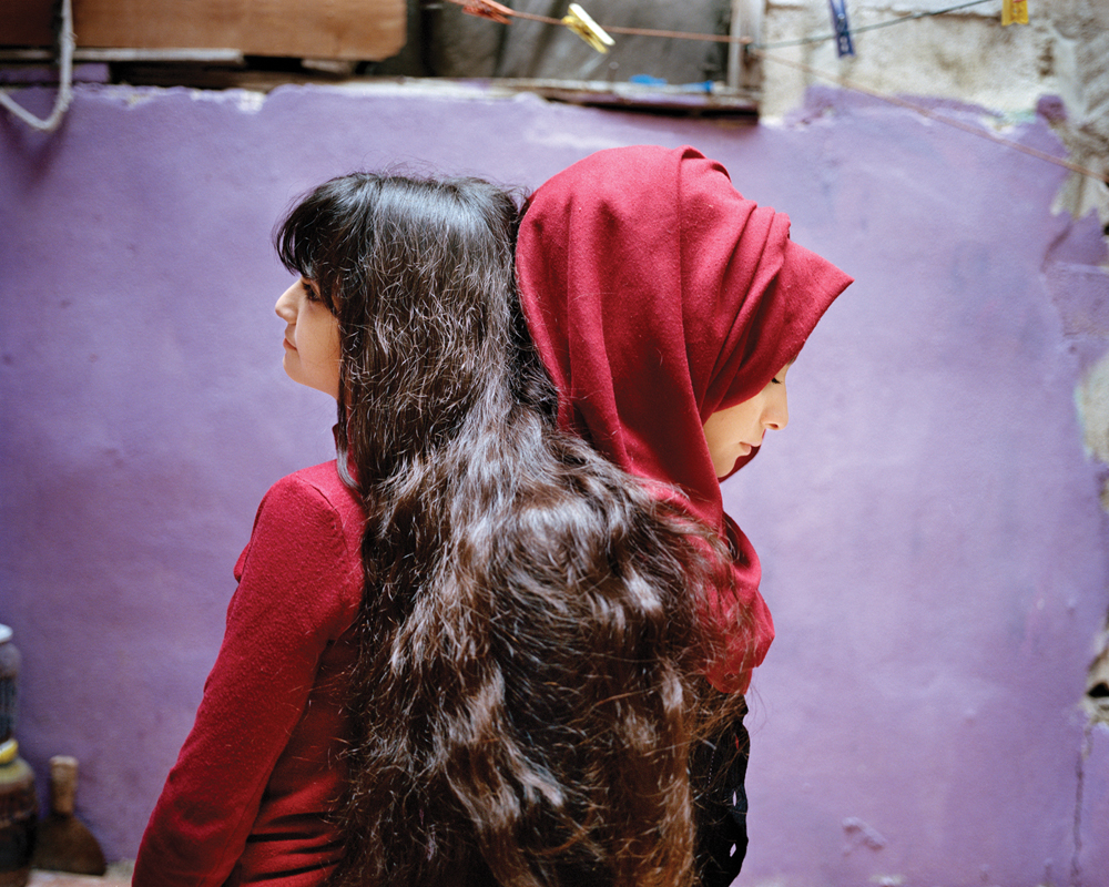 Sara and Samira, Bourj El Barajneh Refugee Camp, Beirut Lebanon,