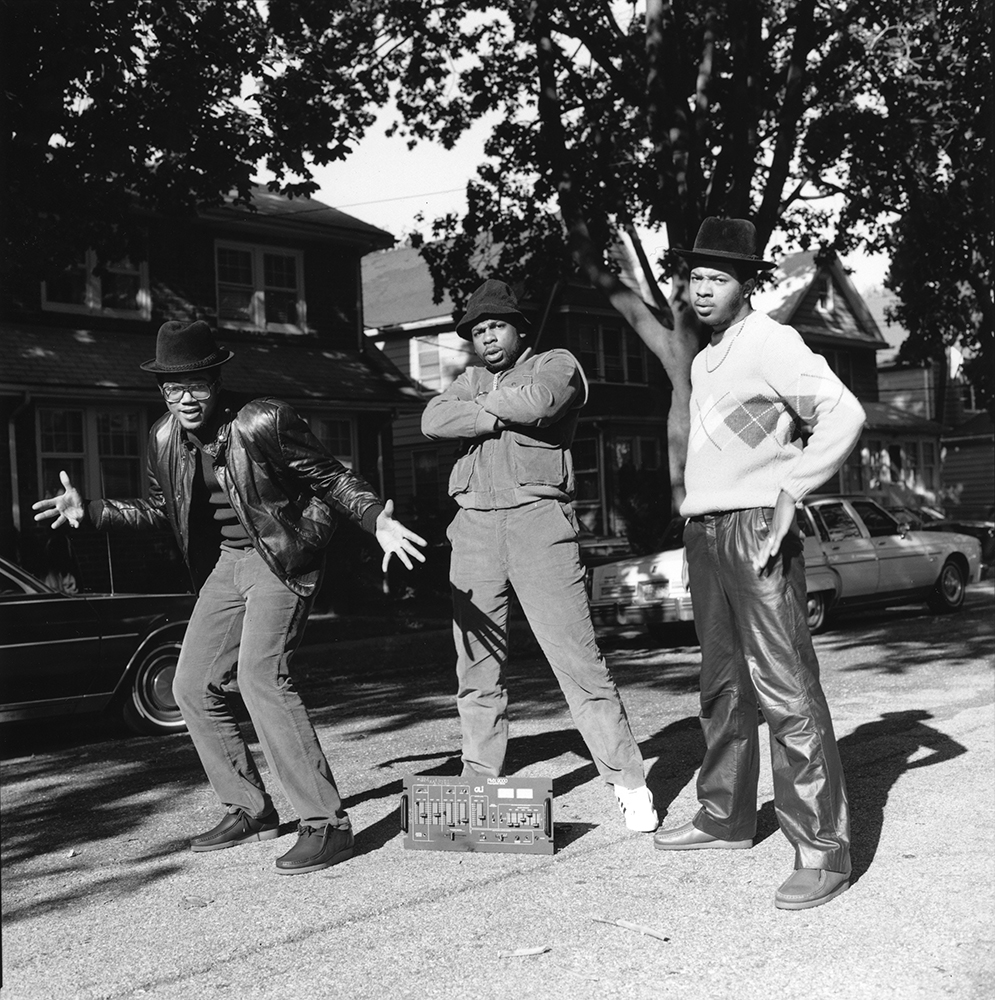 19. Run-DMC (1984). Photo by Janette Beckman.