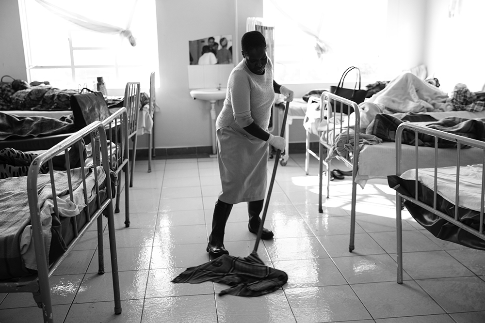 The maternity ward at the Kapenguria County Referral Hospital in Kapenguria, Kenya.