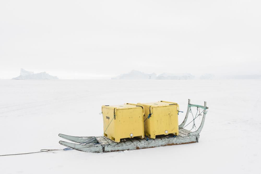 Ummannaq, Greenland, fjord, Winter, Uummannaq Mtn.