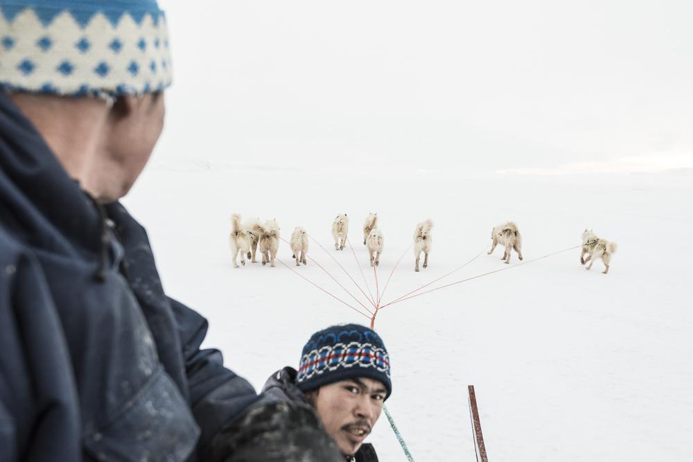 Pujunnguaq Hammond; Karl Nielsen; Ummannaq, Greenland, fjord, Winter, Uummannaq Mtn, night