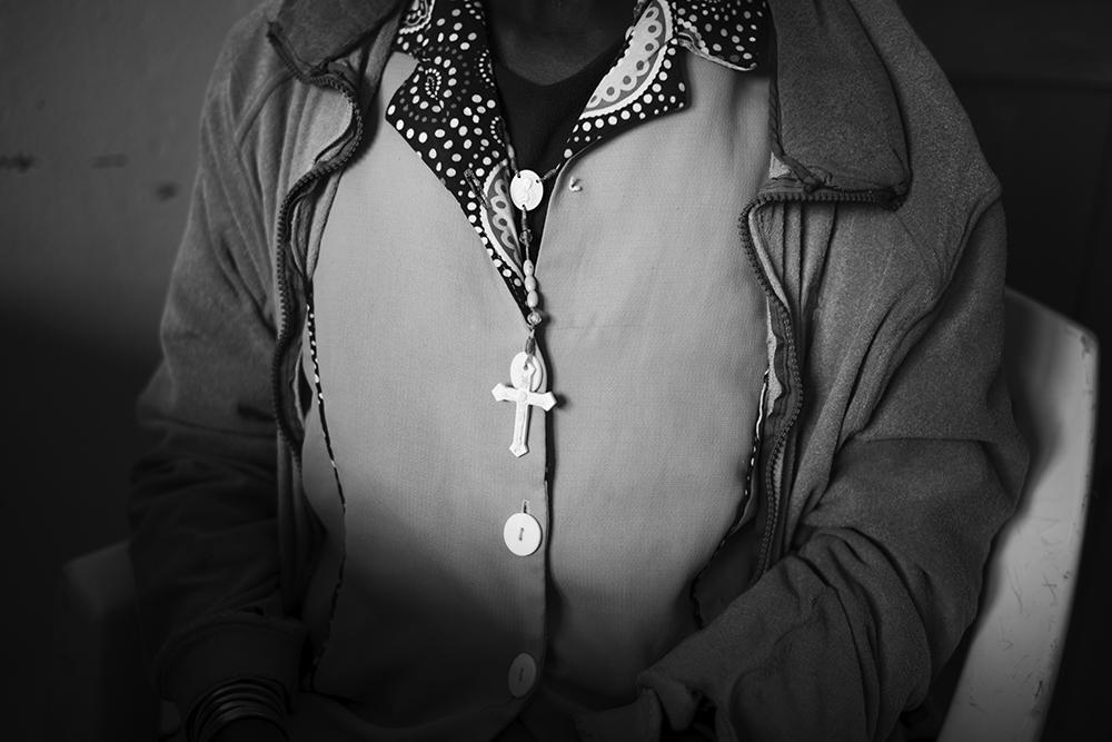 A woman is screened at the Kapenguria County Referral Hospital in Kapenguria, Kenya.