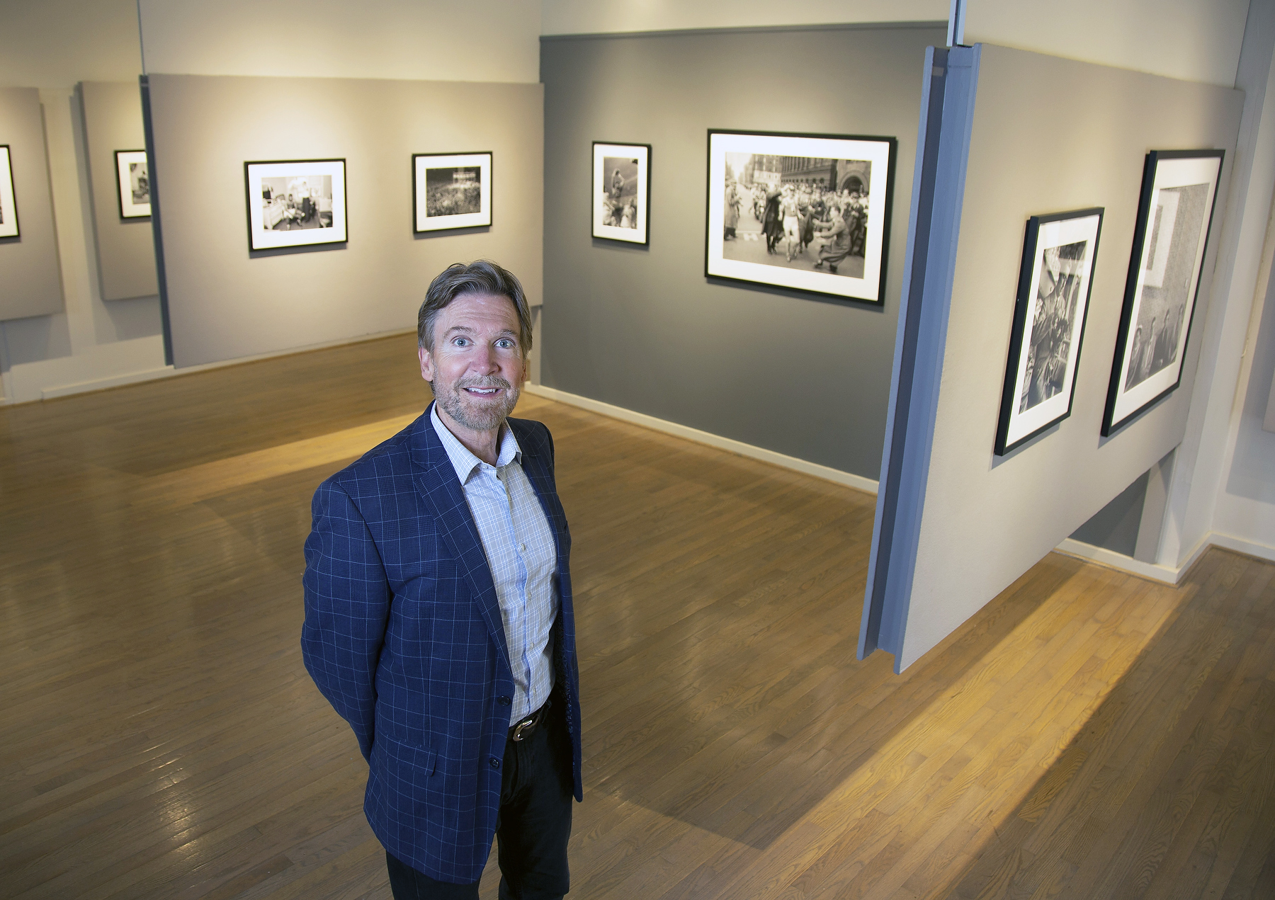 Brian Taylor photographed at the Center for the Photographic Arts in Carmel, Calif. on Tuesday, May 22, 2018. Taylor is a long-time San Jose State art professor who is now the director of the Center for the Photographic Arts in Carmel and the primary caretaker of the legacy of art photography in Carmel, which includes Ansel Adams and Cole and Edward Weston.