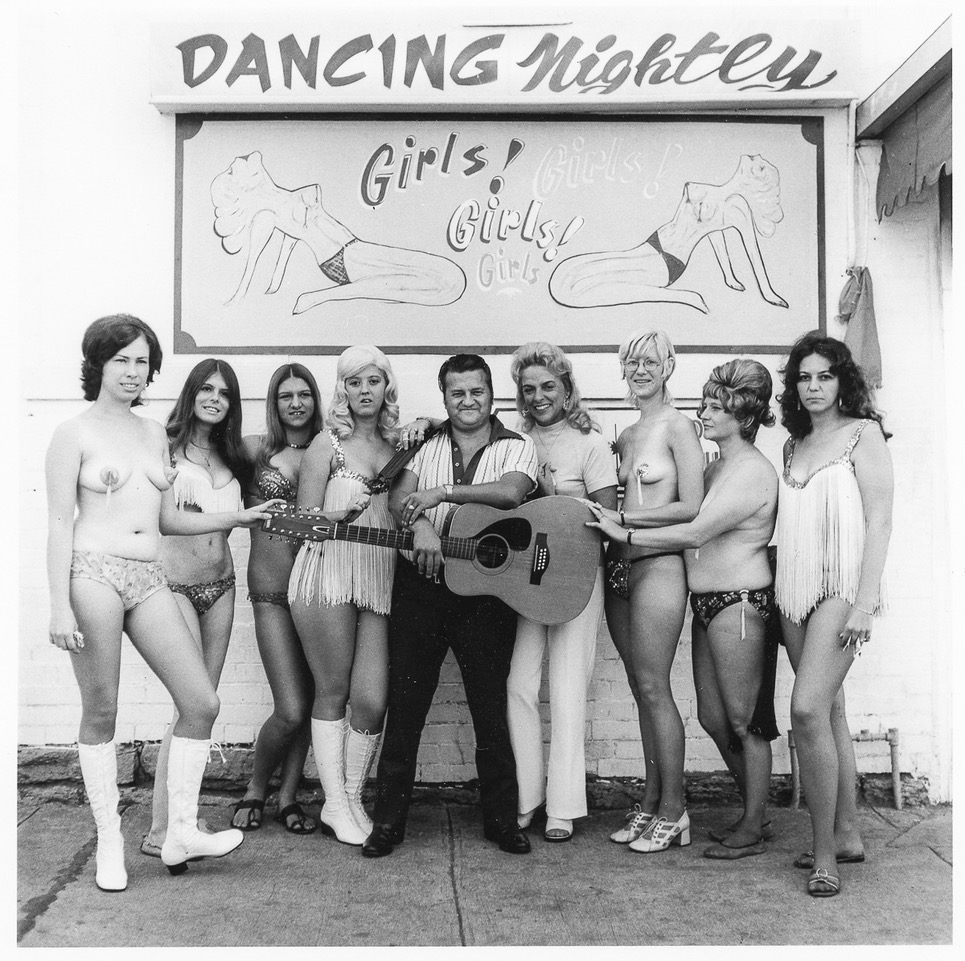 The Fabulous Little Enis--180 pounds of dynamite with a nine-inch fuse--with the Go Go Girls of Boots Bar, Lexington