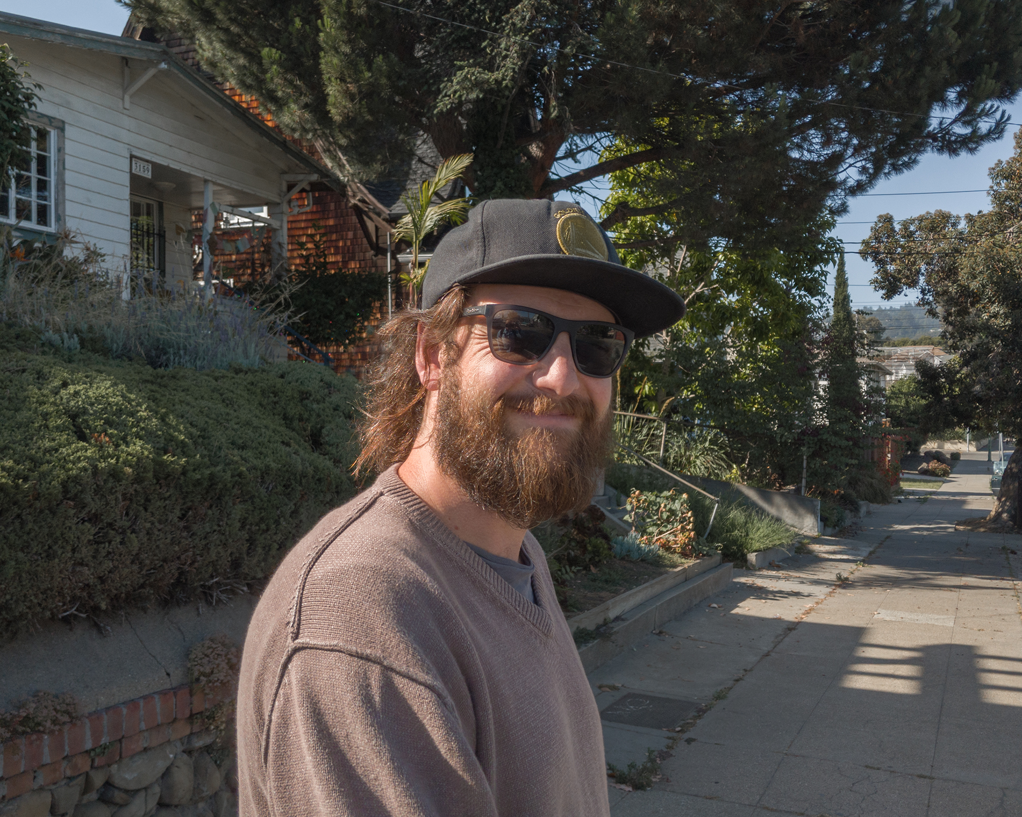 Photographer Matt Mimiaga shown in the Fruitvale district of Oakland, CA.