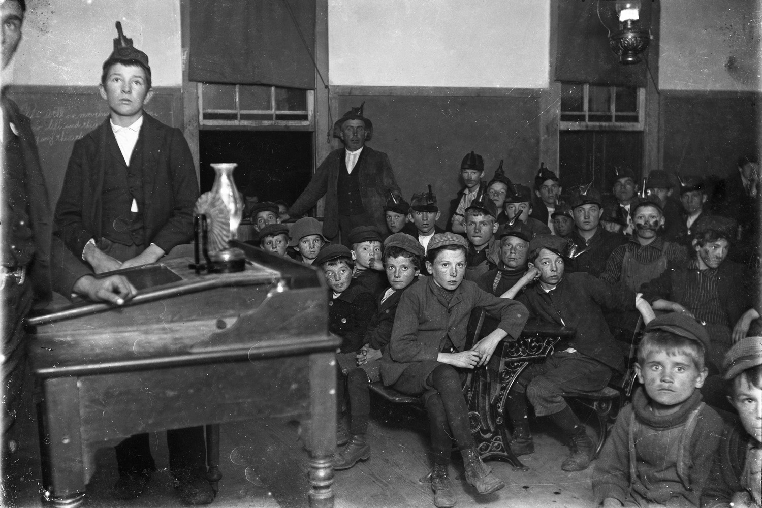 Frank E. Schoonover, Breaker Boys Meeting , Scranton, Pennsylvania , 1902