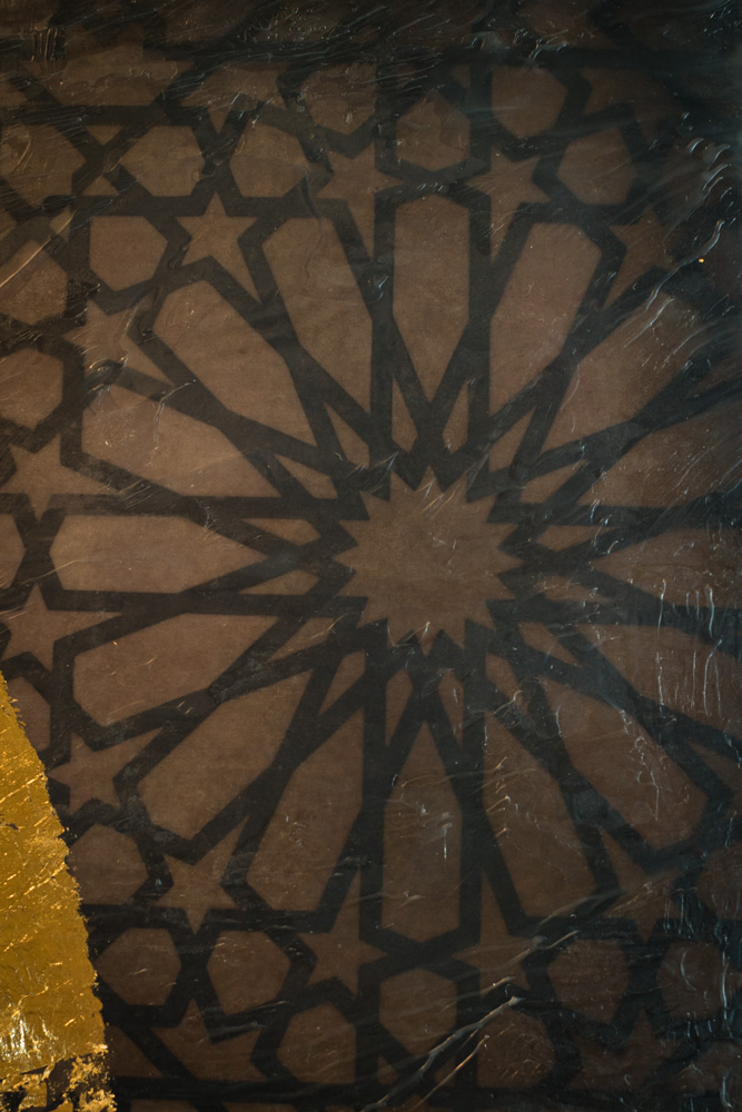 Detail of Islamic art pattern in background layer