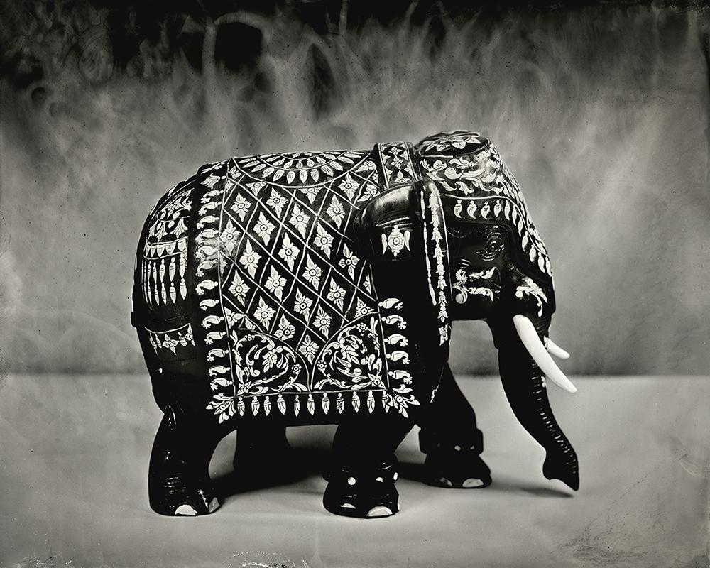 19Ivory Inlaid Elephant