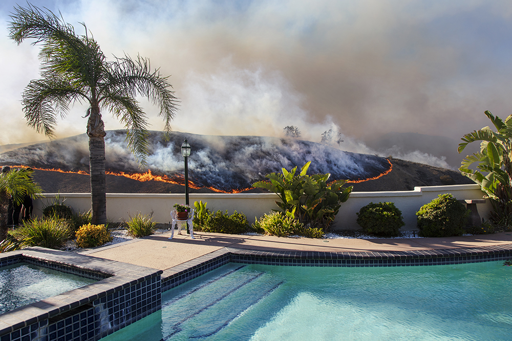 Cooley, Kevin-Swimming Pool, Woolsey Fire, 2018 1000px
