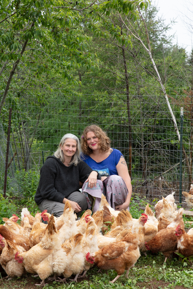 Shelley Hart and Holly Pickens in Whiting, Maine
