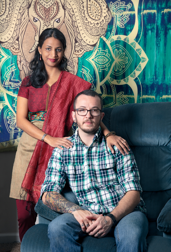 Tyler Titus, Trans man, 1st elected transgender official in the state of Pennsylvania, and wife Shraddha