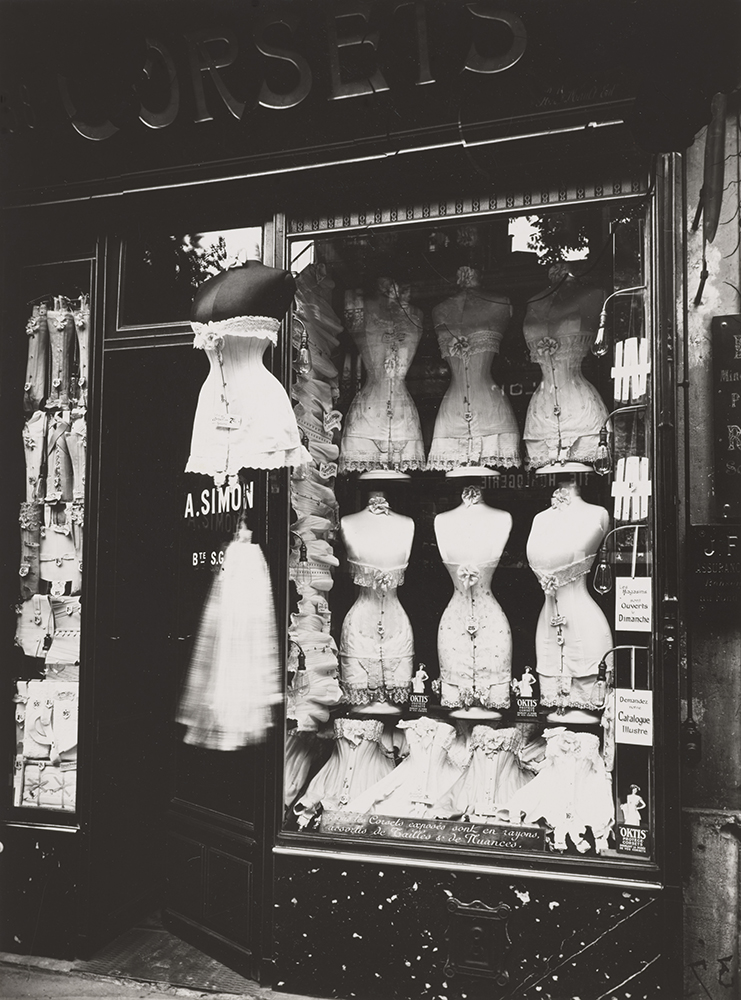 Eugène Atget, French, 1857 - 1927 Corsets, ca. 1910-1920 Gelatin silver print 9 1/4 × 6 7/8 in. (23.5 × 17.5 cm) Photograph