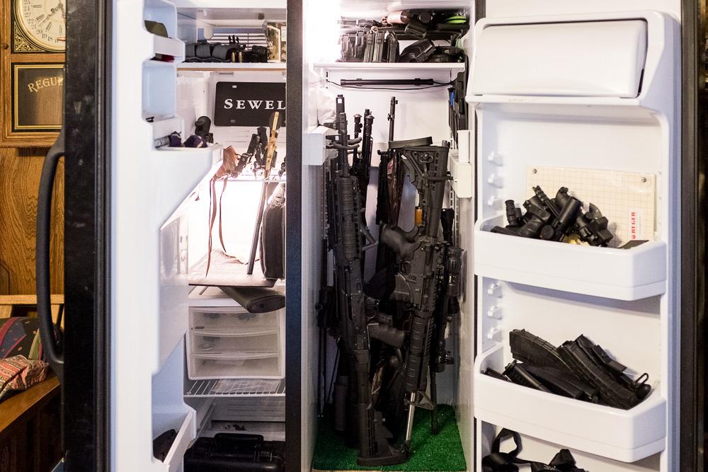 Gun fridge.