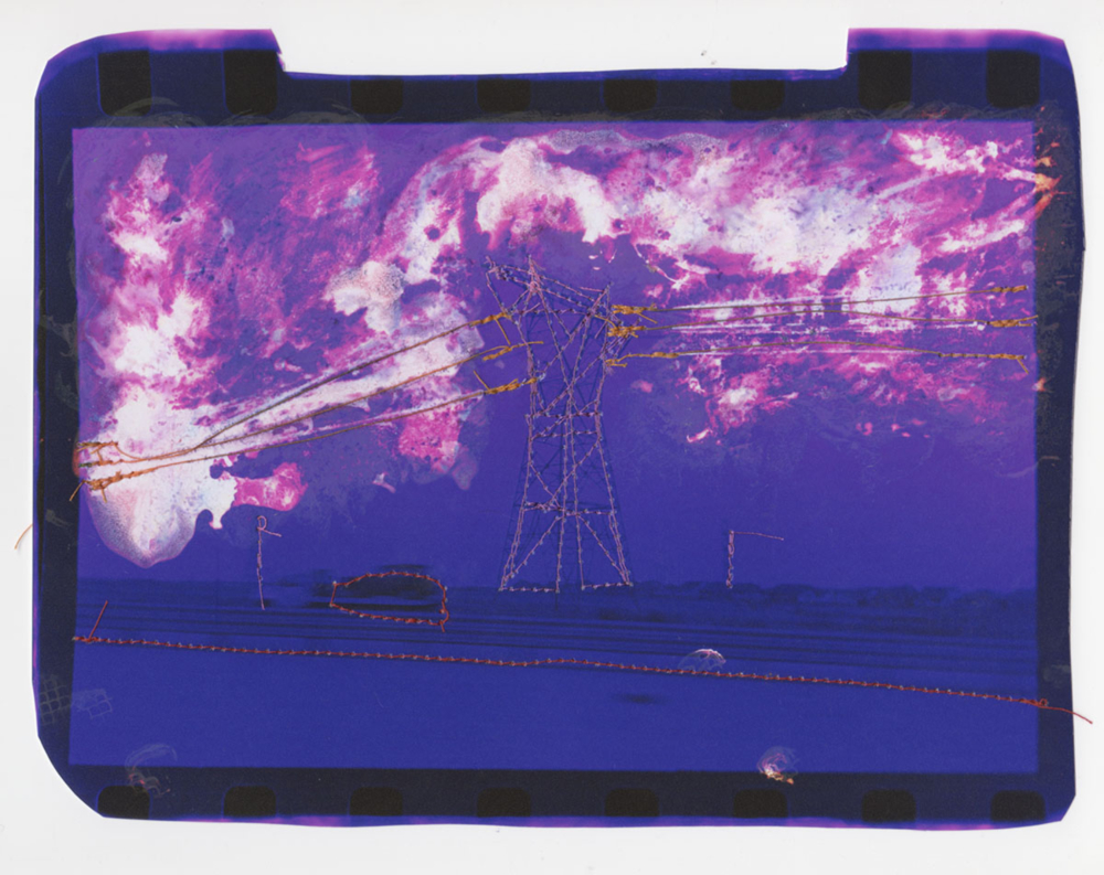 7 Andrew K Thompson_Untitled (purple landscape with orange powerlines)_2015