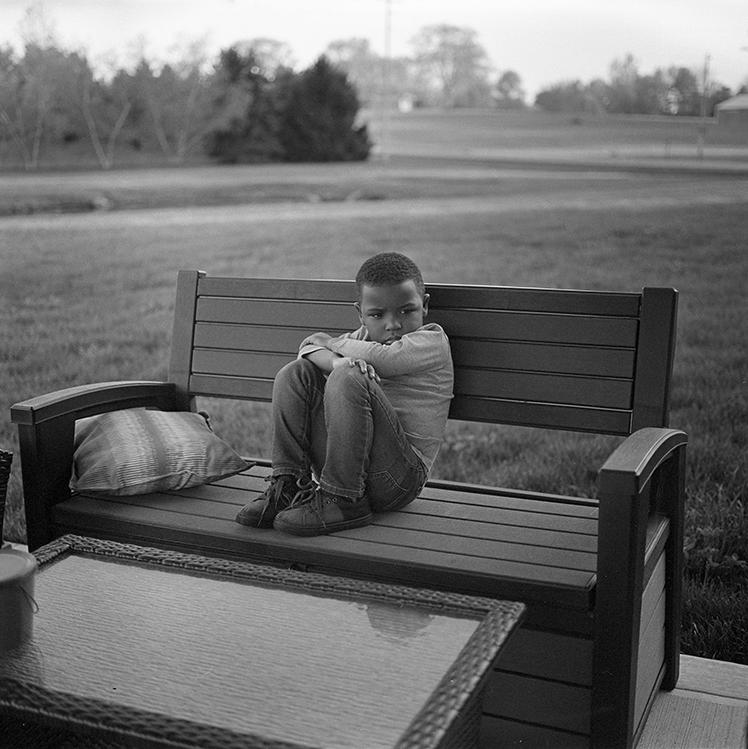©Rashod Taylor, LJ Sitting on Bench