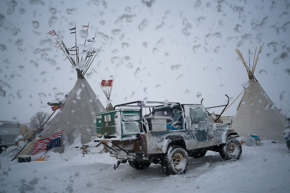 Willis_15_The First Blizzard at the Oceti Sakowin Camp_2016