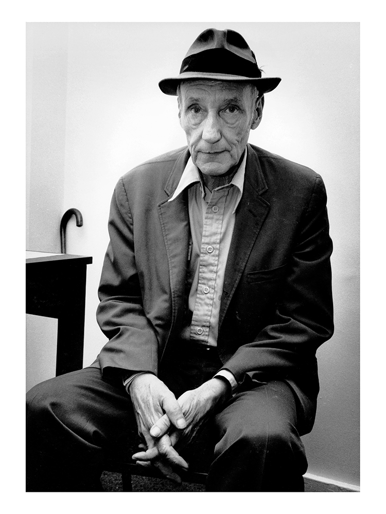 From the BEATS Series, William Burroughs, 1982 ©Photography By Myles Aronowitz