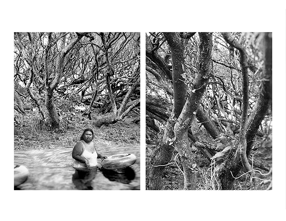 Jeon_Hawaiian_Girl_At_Carlsmith_Beach__Trees_Saved_From_Lava_Flow