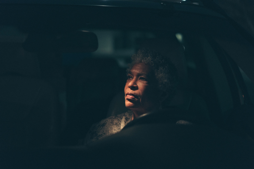 Portrait of a driver who has lived throught the Jim Crow era and whose family has witnessed the injustices and dangers of driving while black in America.
