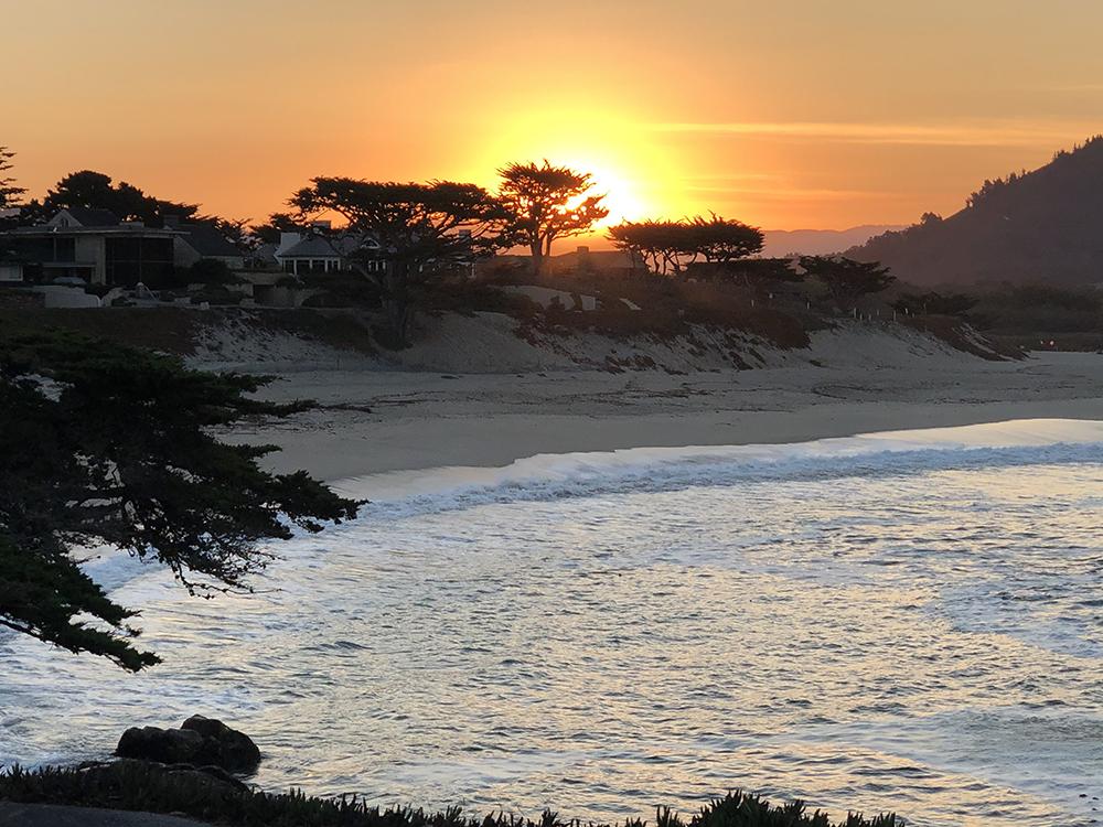 @Jennifer Lagier, Sunrise over Carmel River Lagoon Carmel CA jlagier.net