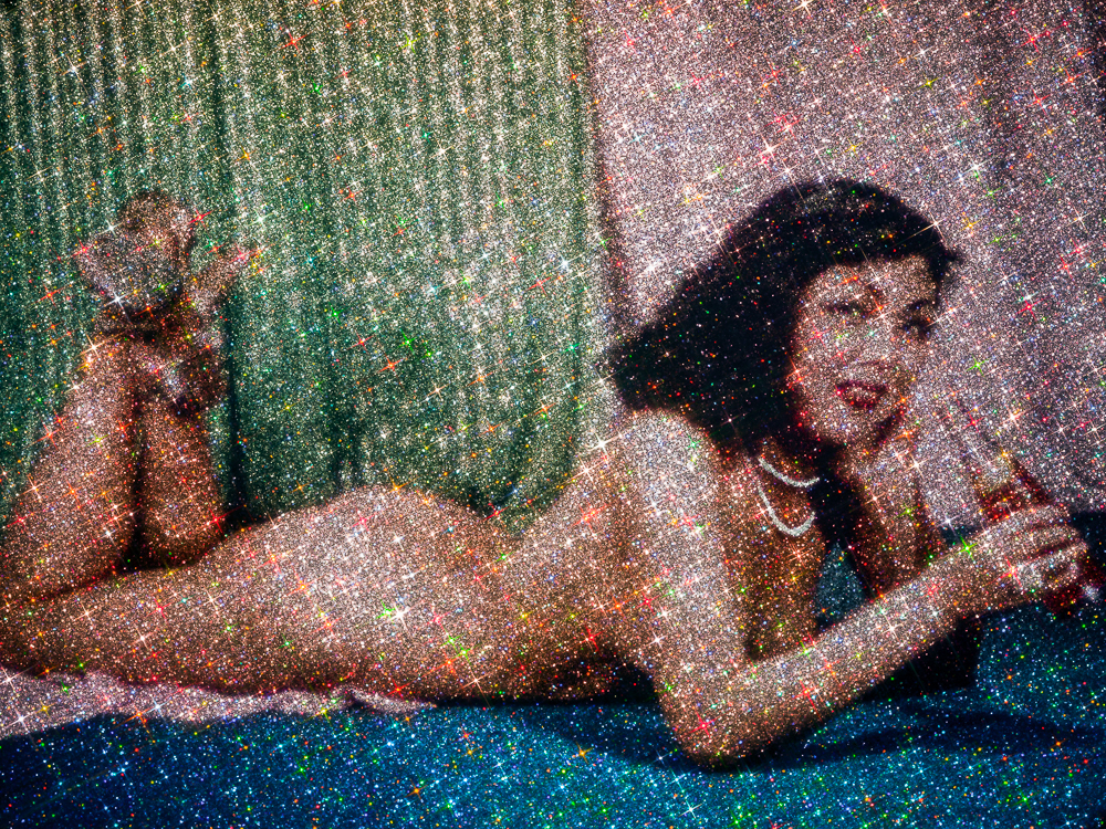 Korean War Pin-Up Girl (in Glitter) - Michael Young
