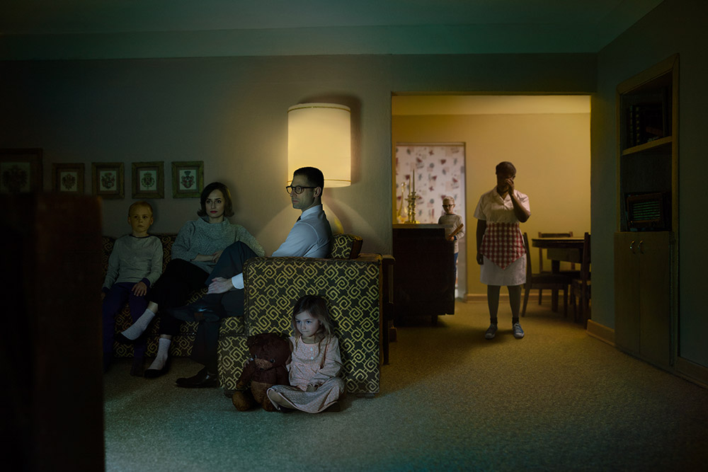 11 Family Watching TV