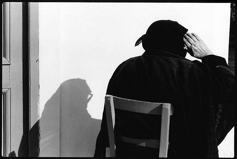 Seated Widow with Shadows Crete